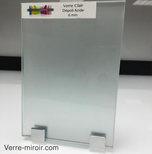 verre depoli base clair