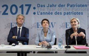 Wilders, Petry en Le Pen © time.com