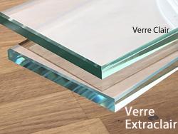 de meuble par une plaque de verre sur
