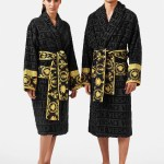 Versace Customizable I Baroque Bathrobe Online Store Eu