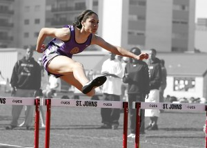 girl track runner