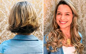 Mega Hair deixando você ainda mais linda
