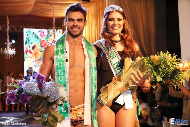 Mister RN, Leonardo Bruno e Miss Natal, Sara Torres. Foto: Elias Medeiros