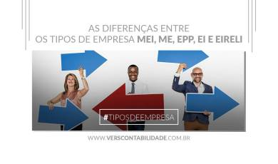 As diferenças entre os tipos de empresa MEI, ME, EPP, EI e EIRELI - site 390X230px