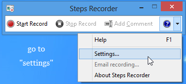 Steps Recorder – Built-in Steps Recording Tool of Windows 8