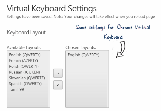 Virtual Keyboard for Chrome
