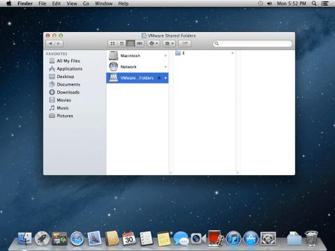 os x mountain lion vmware shared folder