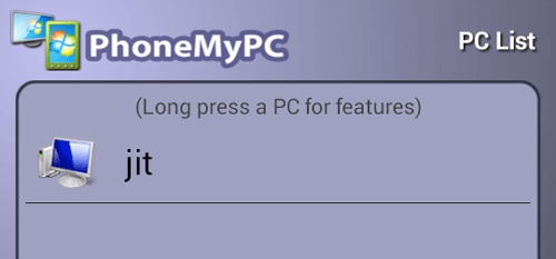 list of available pc