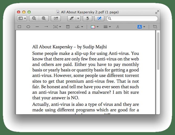 Edit PDF File on mac