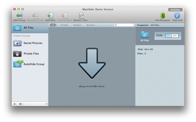 Hide Any Picture or Private Document in Mac using MacHider