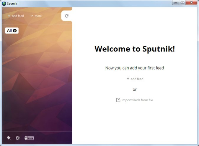 Sputnik RSS Reader