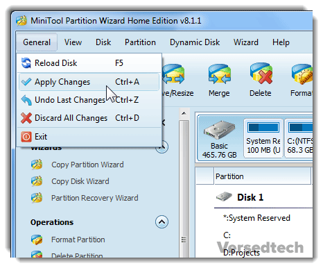 Create Partition from Ext4 File System