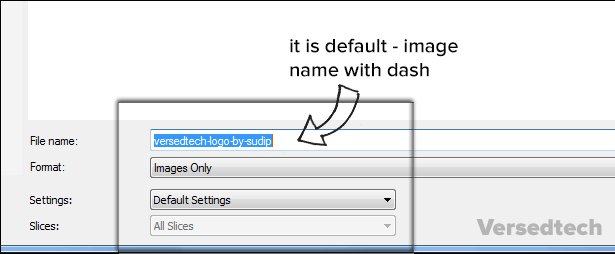 default file save with dash