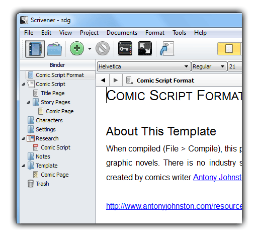 scrivener create group for document