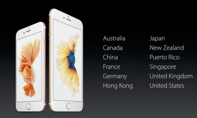 iPhone 6S and iPhone 6S Launch Countries