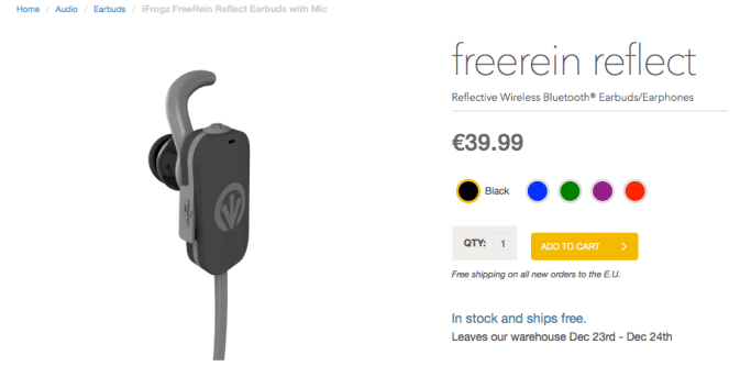 ZAGG iFrogz FreeRein Reflect Earbuds with Mic