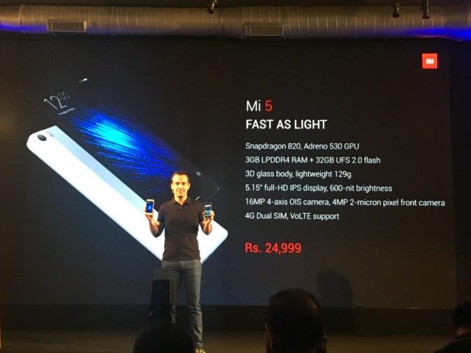 Hugo Barra lauching Xiaomi MI5