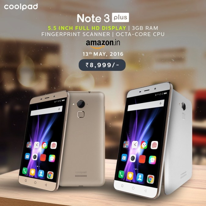 Coolpad Note 3 Plus launch
