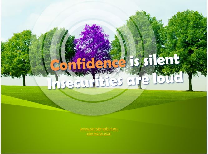 One Liner Quote on Confidence