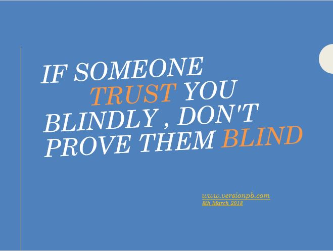 One Liner Quote on Trust