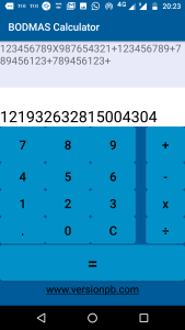 Big Expression Calculation Bodmas Calculator