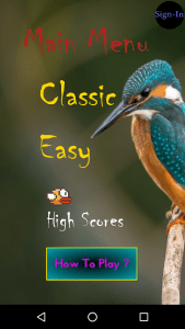 Brisky Bird Sign In Google Play Game Services