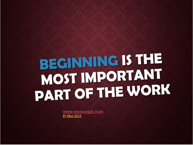 One Liner Quote on Beginning