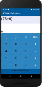 Addition with brackets using BODMAS Calculator