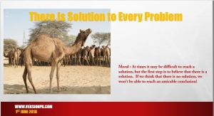 There is Solution to Every Problem