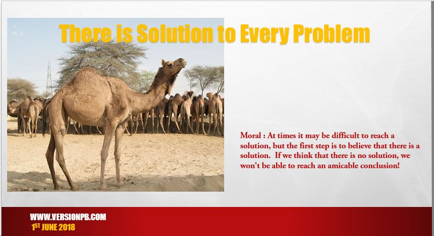 Short Story on There is Solution to Every Problem