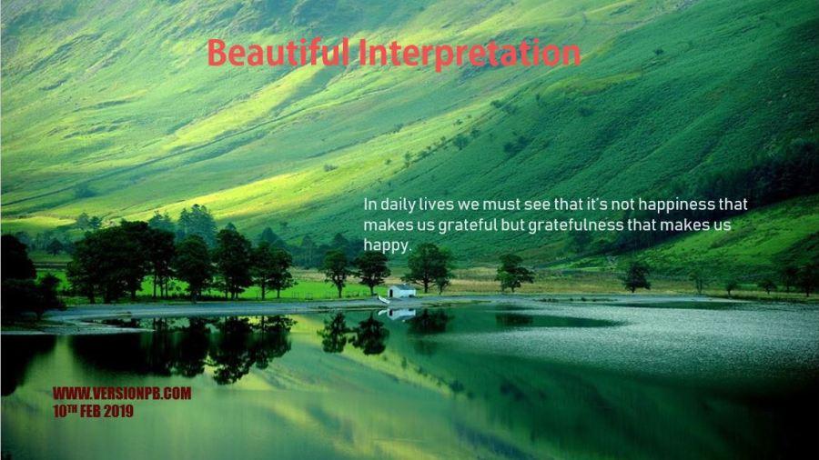 Short Story on Beautiful Interpretation