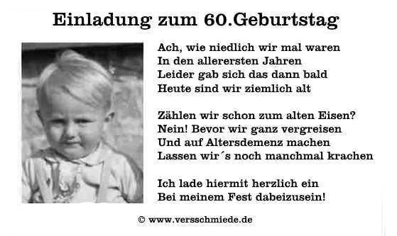 Geburtstagsspruche Zum 60zigsten Ernst Lustig Humorvoll