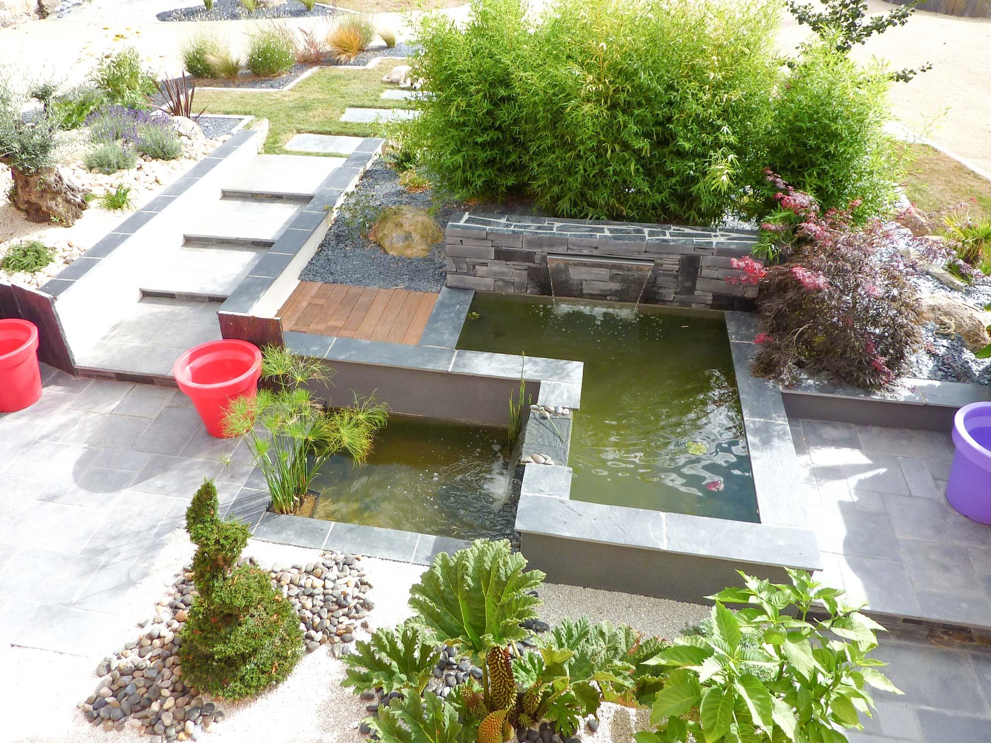 bassin d agrement et jardin japonais