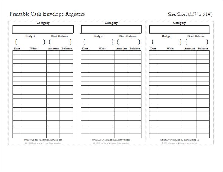 Cash Envelopes Printable Cash Envelope Tracker Templates