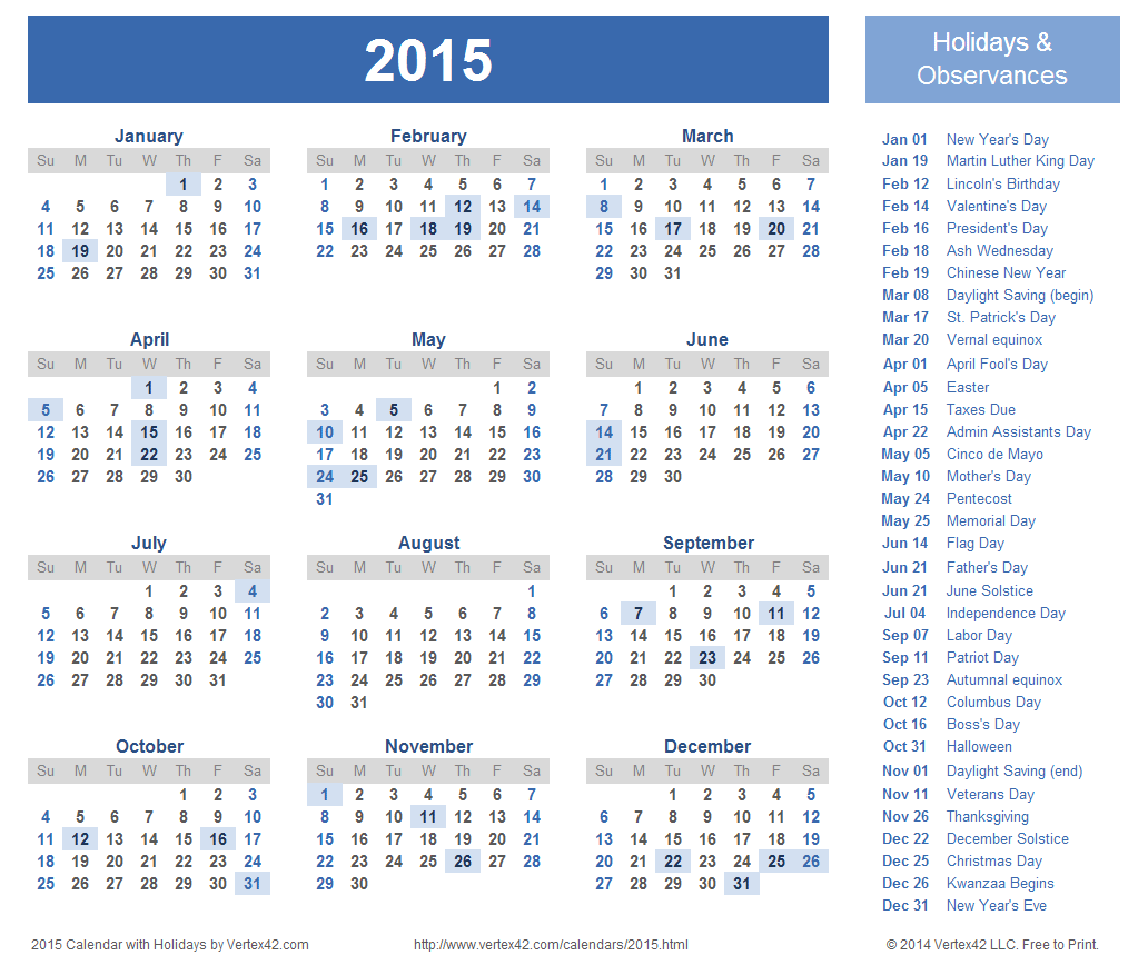 Calendar Templates And Images