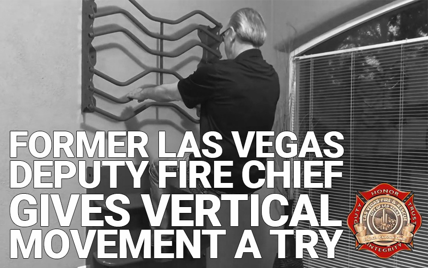 Former Deputy Fire Chief Ken Riddle of Las Vegas Gives Vertical Movement a Try