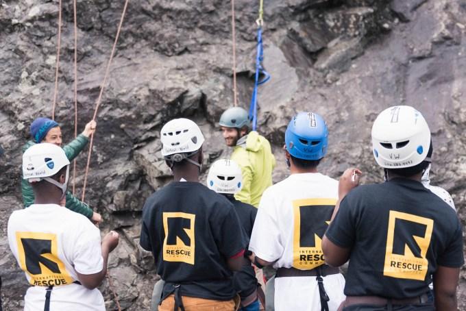 vertical world guide instructing irc climbers