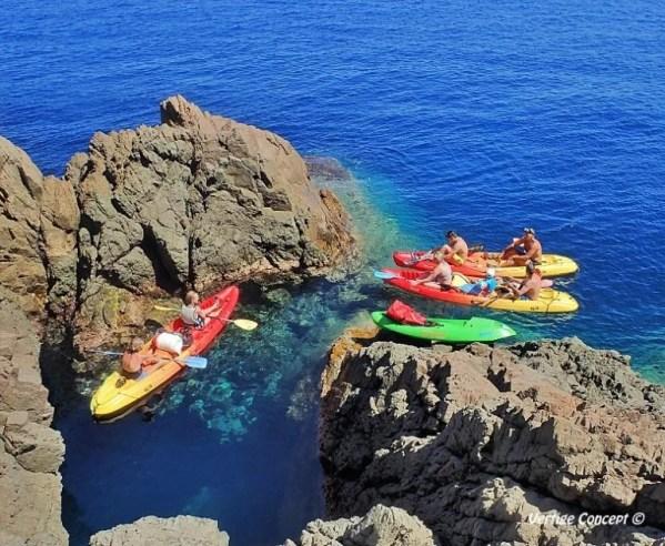 Kayak à Galéria près de Calvi en Corse du nord