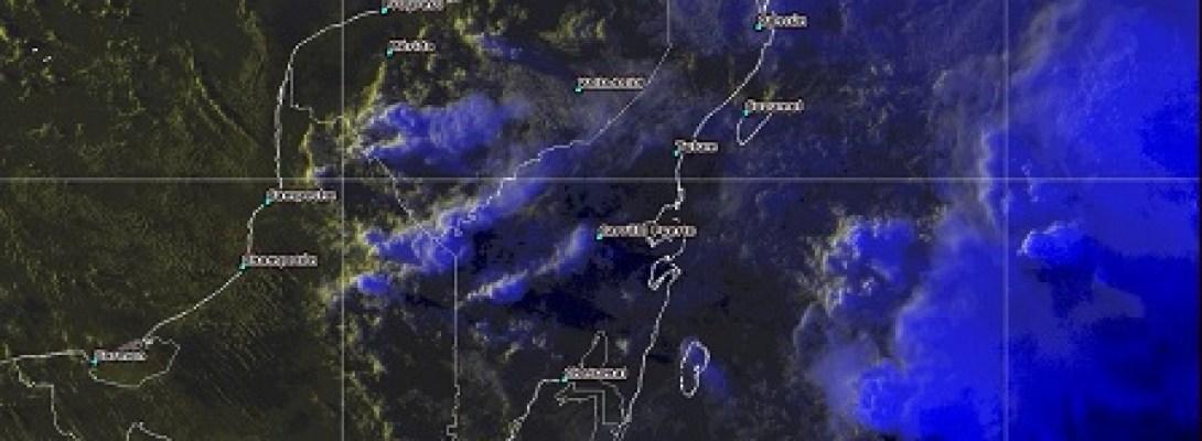 Zona de inestabilidad con alto potencial ciclónico ocasionará tormentas intensas y oleaje elevado en Yucatán y Quintana Roo