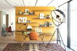 bureau mur jaune frenchyfancy fr