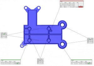 Image showing off line metrology software output screen