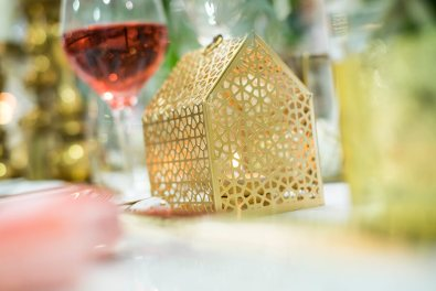Gold tealight house $18