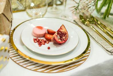 Dore Gold rimmed dinner plate $24.90