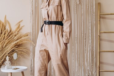 Woman in a Winter Jumpsuit