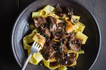Brooke Lyons' Beef Stew on Pappardelle. Photography – Tam West