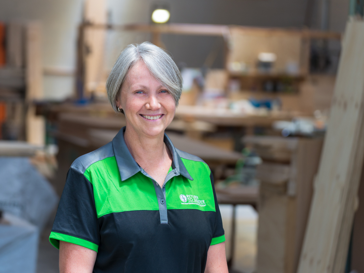 Sue Hart, Factory Manager of Return To Sender.