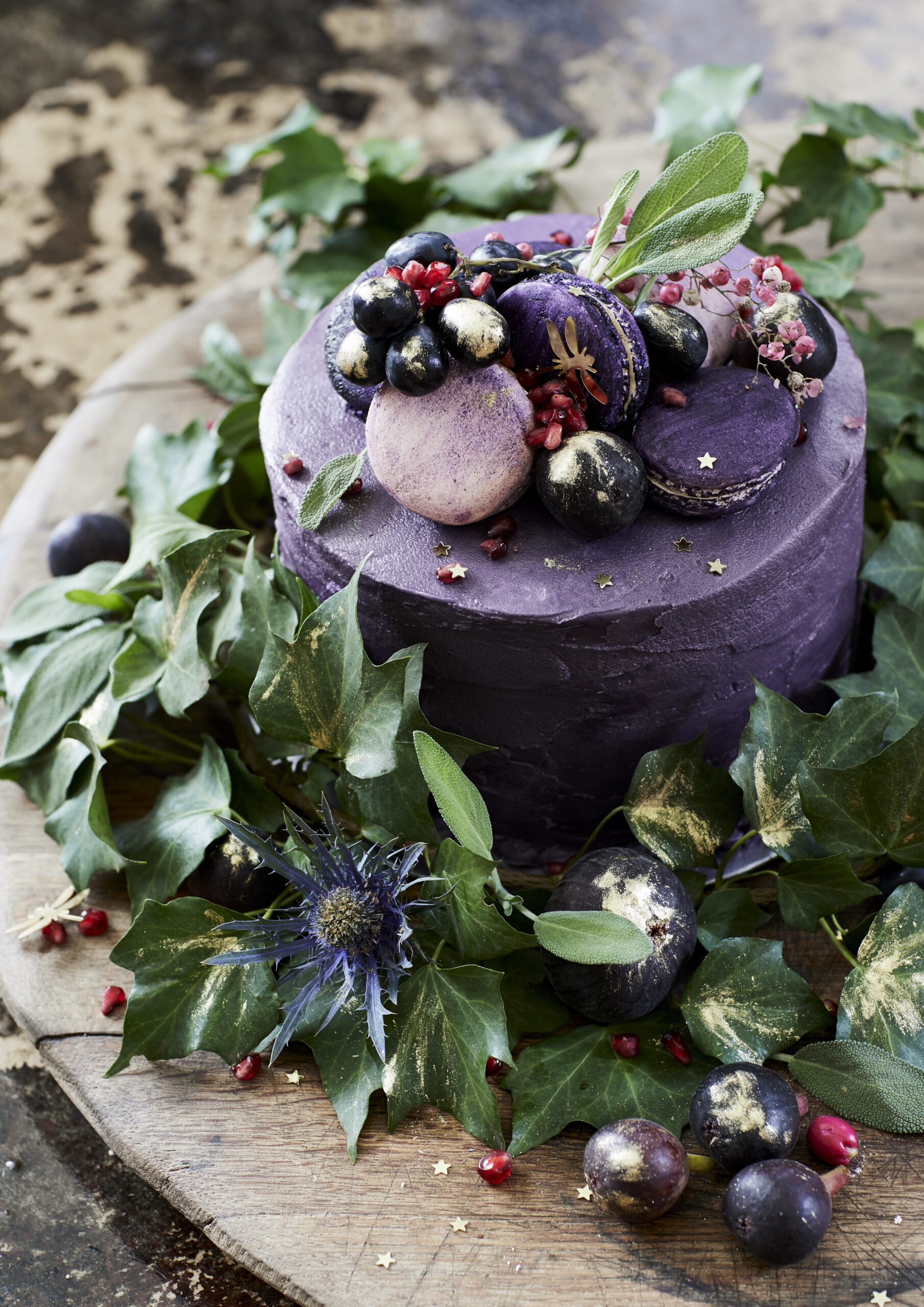 Black Magic Christmas Cake