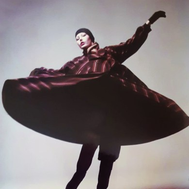 Abby Collins in Issey Miyake. 1970s.