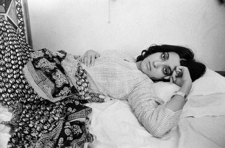 Pooh in bed at home Bombay 1975