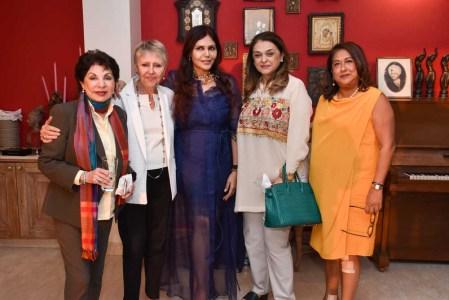 Sabira Merchant, Cristiane Serra, Nisha Jamvwal, Malika Amin and Honey Nathwani